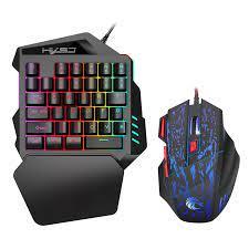 VOBERRY HXSJ J50 Ergonomi Renkli USB Tel Bağlantı Arka Tek El fare klavye  Oyunu Set|Keyboards