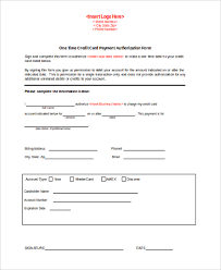 Credit Card Authorization Form Samples - 10+ Free Documents In Word, Pdf