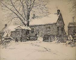 Sold Price: Ivan Summers etching - June 6, 0113 9:30 AM EDT | Etching, Old  farm houses, Old farm
