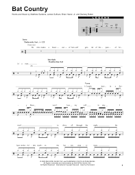 drums sheet music bat country sheet music by avenged sevenfold drums transcription