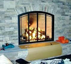 wood burning fireplace glass doors with blower stove door cleaner