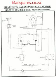 wiring diagrams tumble driers macspares whole spare hoover tumble drier motor connection reversing capacitor start