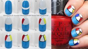Tutorial Tuesday: Beach Ball Half Moon Nail Art! - Adventures In ...