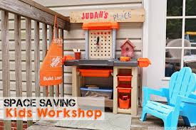 space saving kids work with step2 home depot workbench