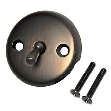 danco overflow plate with trip lever in oil rubbed bronze