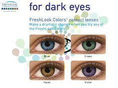 Freshlook Color Chart For Dark Eyes 7 Best Freshlook Colored Prescription Contacts Images