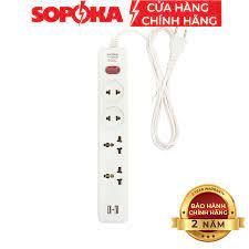 Ổ cắm điện đa năng SOPOKA Có USB 27W 4U1 4U2 an toàn tiện lợi - Ổ cắm điện  Thương hiệu Sopoka