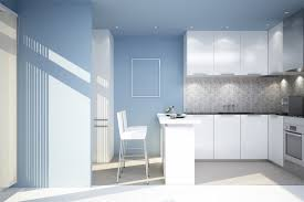 blue white office space. Kitchen Blue Paint Colours For Walls With White Cabinets And Modern Recessed Lighting. Minimalist Office Space S