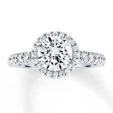 kay diamond halo engagement ring 2 ct tw round cut 14k white gold