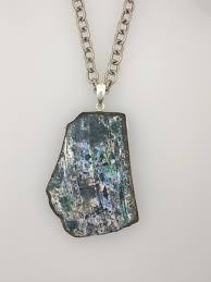large roman glass pendant dark blue patina