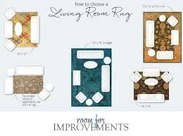 right size rug for living room standard area rug sizes proper rug size living room
