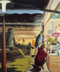 neo rauch gold 2003 oil on canvas 98 3 8 x 82 2 3