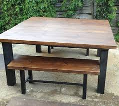 image is loading industrialchicretrodiningtableandbenchset retro dining table r52