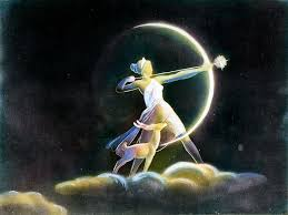 artemis. lady artemis and one of her sacred animals by the moon.