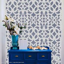 painting metal trellis patterns on accent wall mansion house grille trellis wall stencils royal wall pattern