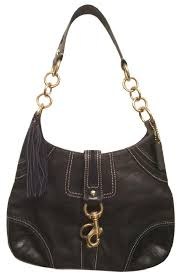 Coach Hamptons Leather Embossed Signature Hobo Bag ...