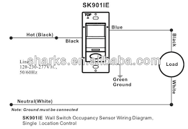 120 277v wall switch vacancy sensor with push on manual override control