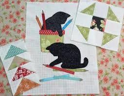 Quilting Patterns | Craftsy & B.O.M. 2016 Kitty Craft, Blocks 2A, B, C Adamdwight.com