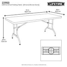 lifetime 6 foot folding table commercial