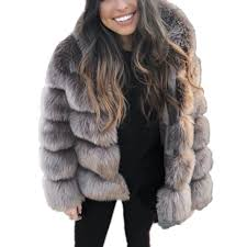 zadorin 18 winter thick warm faux fur coat women plus size