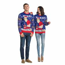 Funny Cheeky Trump Men\u0027s Ugly Christmas Sweater Couples | You Look Today