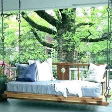 hanging bed outdoor swing porch diy