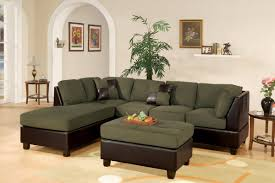 Sage Sofa 3 piece sectional sofa and ottoman two tone microfiber sage 6476 by guidejewelry.us