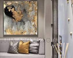 grey and gold wall art black gold