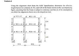 Solved Problem I2 Using The Alignment Chart From The Aisc