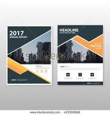orange black triangle vector annual report leaflet brochure flyer template design book cover layout design