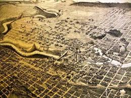 northwest history digital archives featured image 1 rare 1884 Gonzaga Map Spokane it is a stark contrast to the better known 1890 panoramic map of spokane falls, pictured below gonzaga campus map spokane