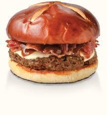 pretzel bbq bacon swiss burger
