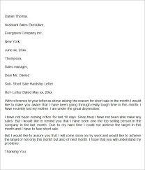 hardship sample letter hardship letter sample 4 template format