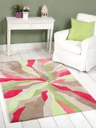 picture of infinite splinter pink green funky rug