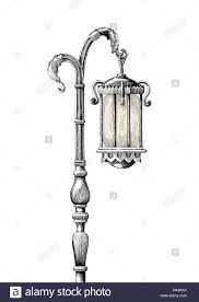 Vintage Outdoor Light Posts Lamp Post Stock Vector Images Alamy