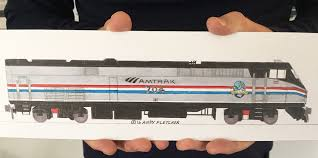 amtrak train drawing. Delighful Amtrak Drawing Of The Day January 12 2016 Amtrak Empire Service P32AC 704 And Train