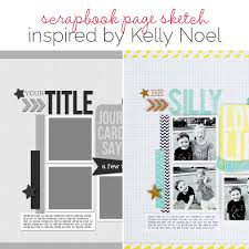 Scrapbook Page Sketch And Layered Template 97