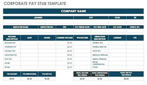 Payroll Stubs Templates Classy Simple Pay Stub Template Free Blank Check Printable Stubs Studiorcco
