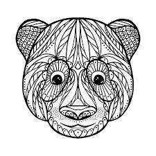 Zen Gewirr Kopf Von Jaguar Für Erwachsene Anti Stress Färbung Seite