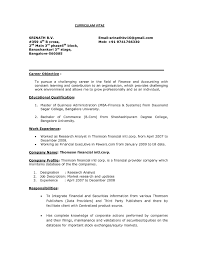 Sample Career Objectives For Resume For Freshers Refrence Sample