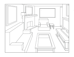 drawing perspective living room drawings . living room drawing ...