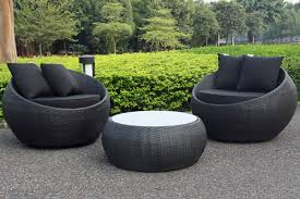 urban furniture melbourne. Cocoon Swivel 3 Piece Outdoor Balcony Setting Black/Black | Small Furniture Urban Melbourne