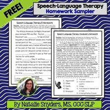 Speech Sample Delectable Speech Language Therapy Homework Sampler FREEBIE By Natalie Snyders