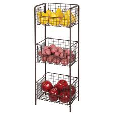Amazoncom Mdesign 3 Tier Vertical Standing Kitchen Pantry Food