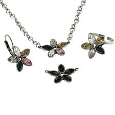 8x4mm navette metal casting flower pendant base with top loops gita jewelry