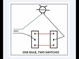 one bulb, two switches youtube Two Switch Wiring Diagram one bulb, two switches two pole switch wiring diagram