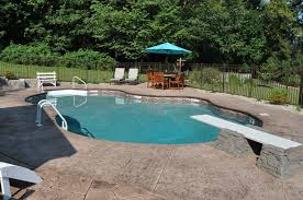 inground pools with diving board and slide. In-ground Pool Featuring A Vinyl Liner And Hardscape Diving Board Base Retaining Wall Inground Pools With Slide