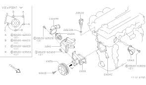 22630 7y000 genuine nissan 226307y000 engine coolant 1995 nissan 200sx water pump cooling fan thermostat diagram a 001