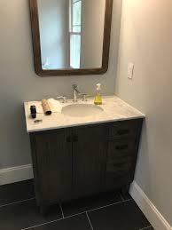 do baseboard around this vanity