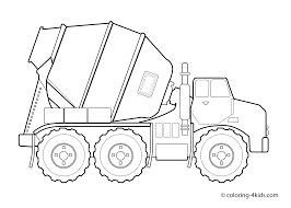 Small Picture Concrete truck Transportation coloring pages for kids printable